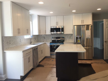 kitchen remodel with new appliances