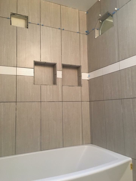 tile added to shower area