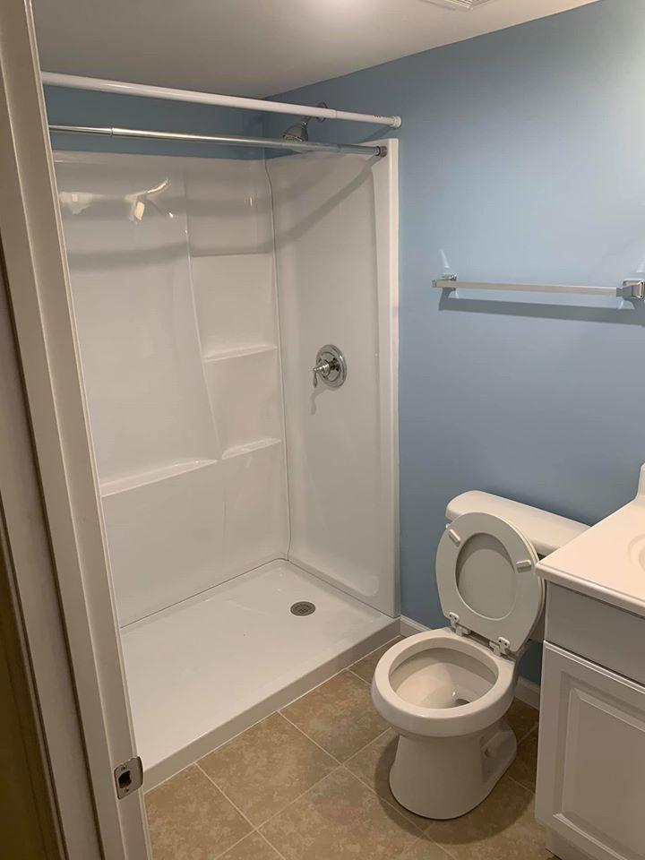 New tub installation