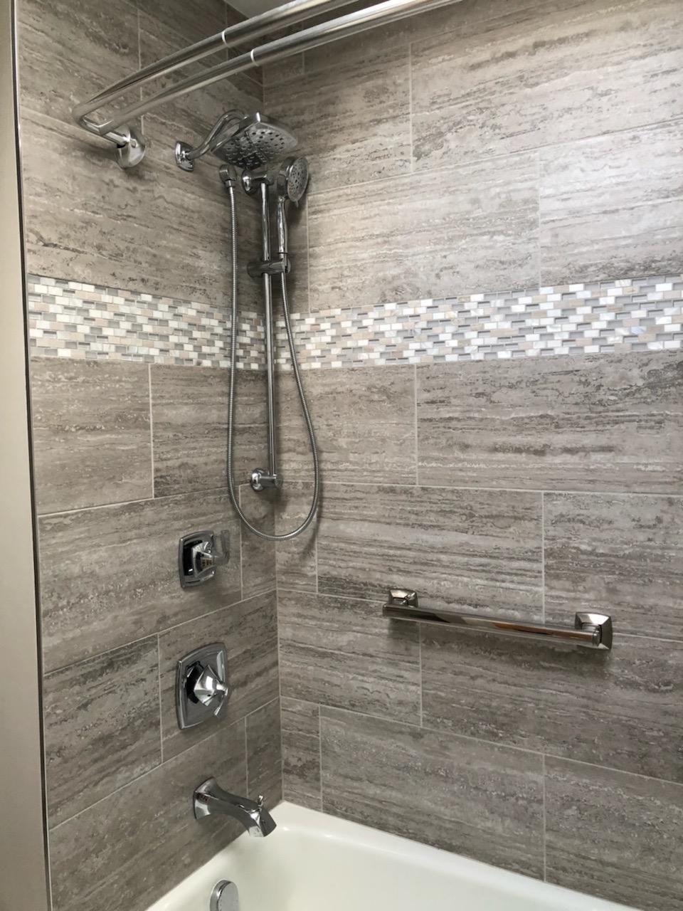 custom bathroom tile install