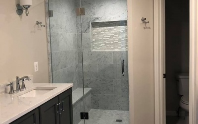 new shower and bathroom remodel