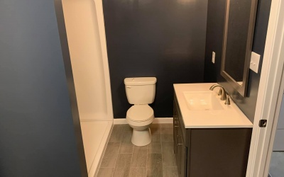 bath remodel toilet installation