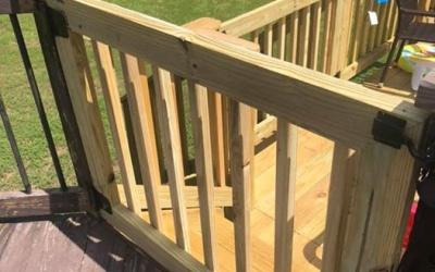 Deck door installation