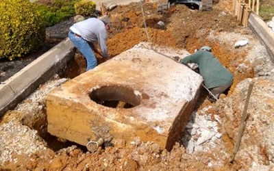 Grease trap replacement prep work elite maintenance