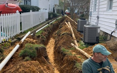 septic water line replacement