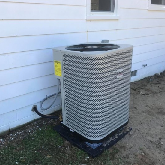 outdoor split air conditioning install