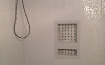 Custom shower renovation removable shower head