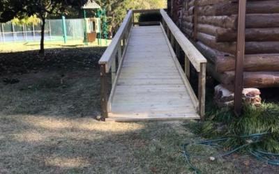 new handicap walkway access