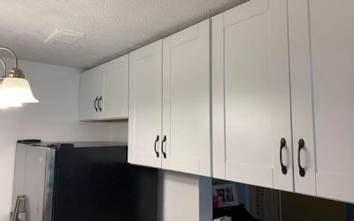small kitchen cabinet install