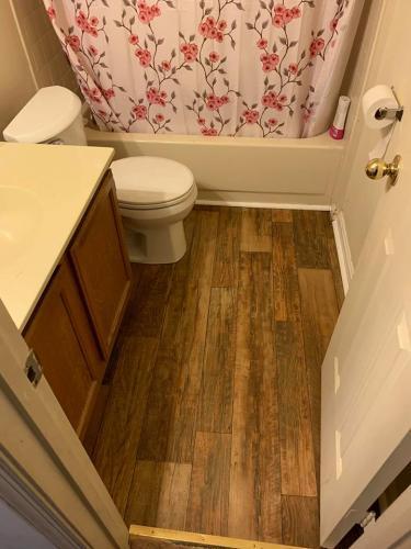 Wood Floor - Bathroom