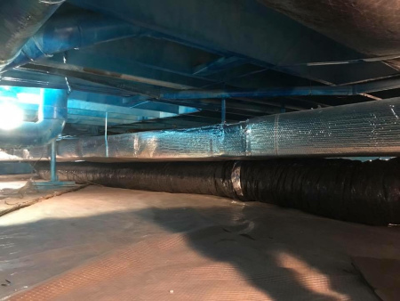 Crawl Space Duct Work