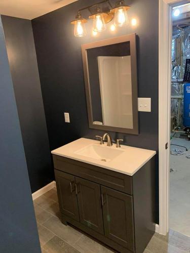 Bathroom remodel sink installation
